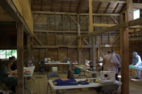 barn slow stitching