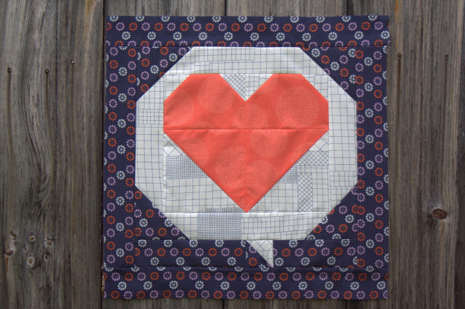 hello love mini quilt pattern