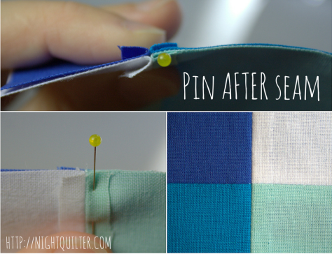 Pin AFTER seam