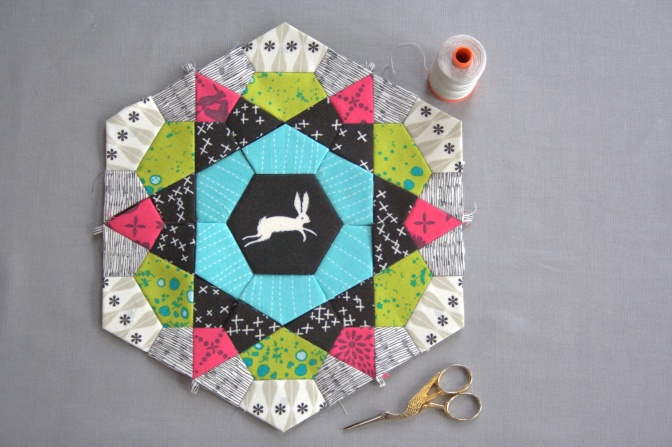 sizzix EPP mug rug start tutorial