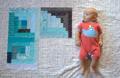 monthly milestone quilt 3 months