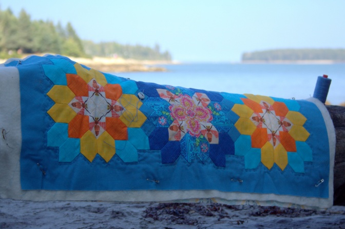 summer epp table runner on the beach