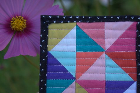 mini mini quilt by michelle bartholomew