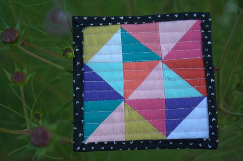 mini mini quilt by michelle bartholomew on cosmos