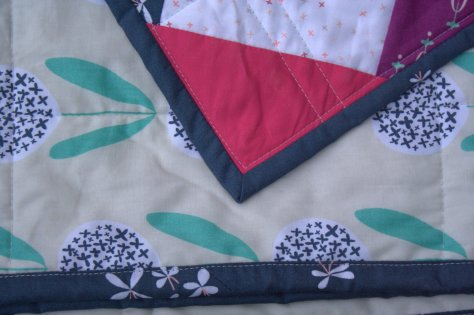 machine binding welded quilt