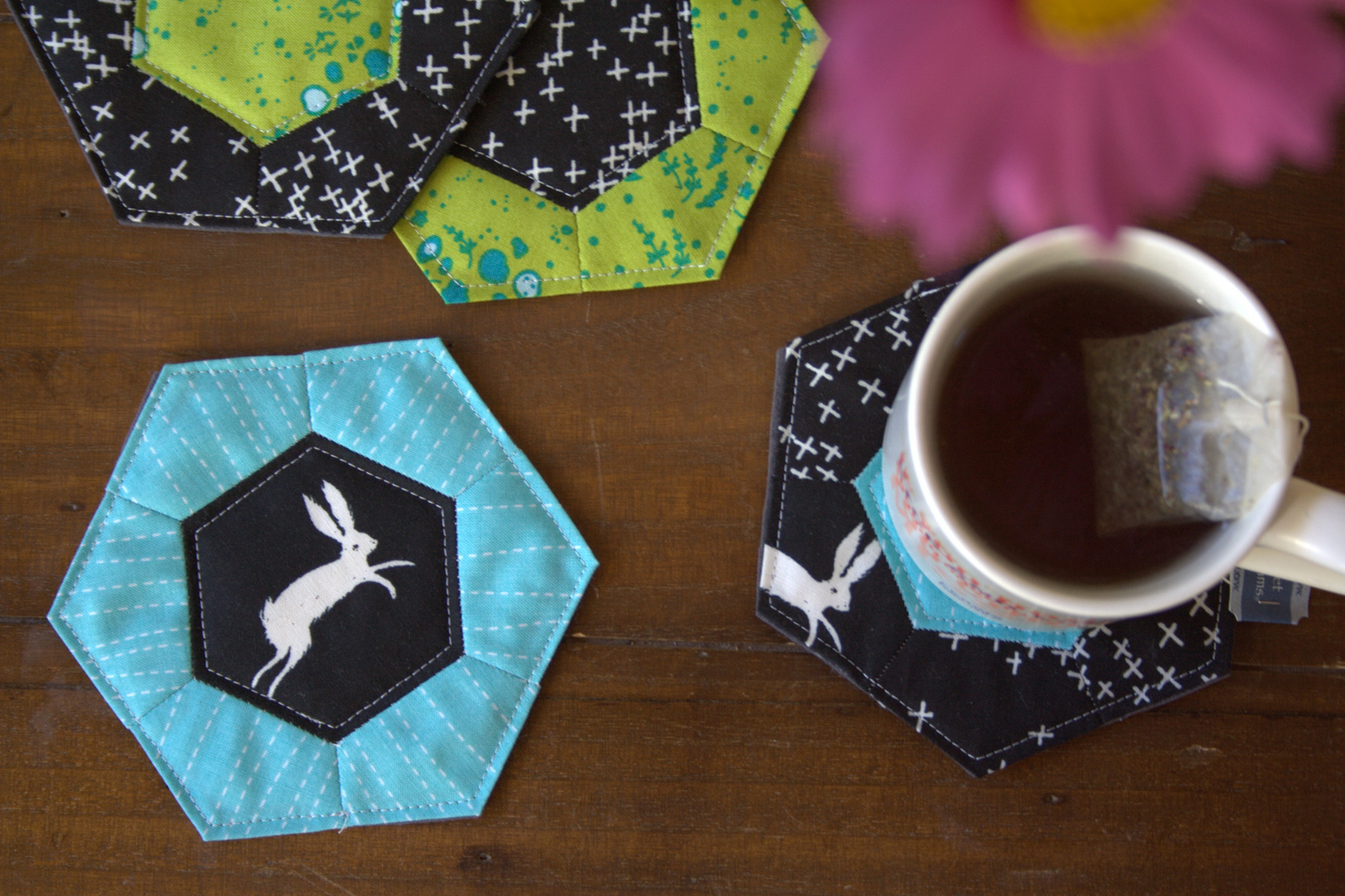 A Quick Gift Epp Rose Star Coasters Sizzix Tutorial Night Quilter