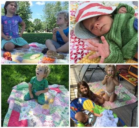 Picnic quilt in use