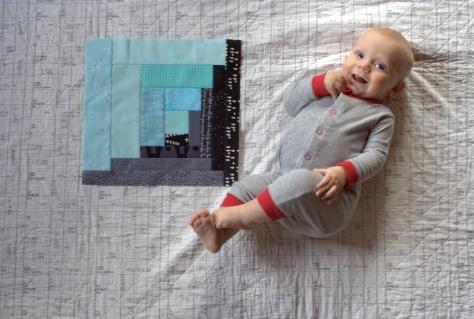 finn milestone quilt 4 months