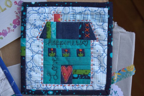 welcome to the house where kitty lives campbell soup diaries mini mini quilt