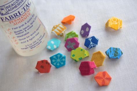 """super teeny tiny epp hexagons 1/4"""""""
