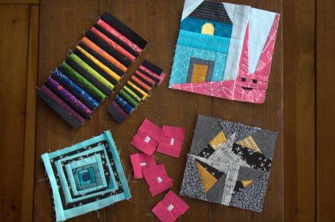 mini mini quilts in progress