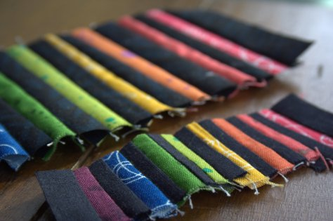 mini rainbow strips quilting
