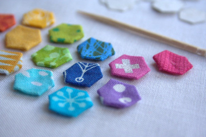 super teeny tiny epp hexagons 1/4""