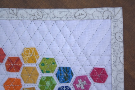 teeny tiny modern hexies mini mini quilt