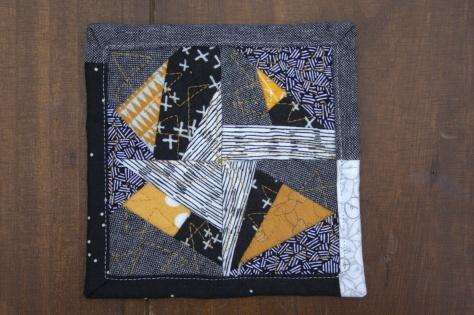 improv mini mini quilt