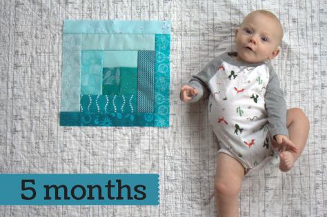 Finn 5 months milestone quilt