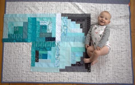 finn 5 month milestone quilt