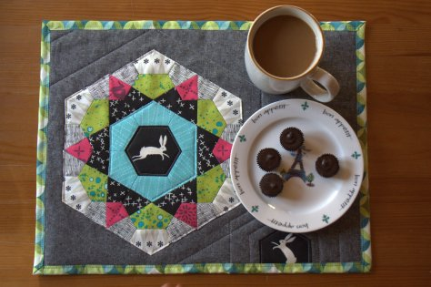 sizzix rose star mug rug