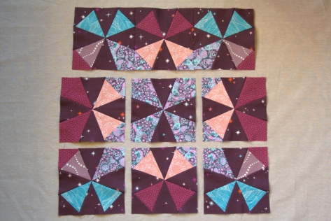 joining rows of kaleidoscope blocks tutorial