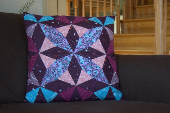 Autumn Dusk Kaleidoscope Pillow Tutorial
