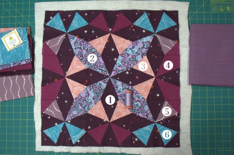 Kaleidoscope fabric numbers