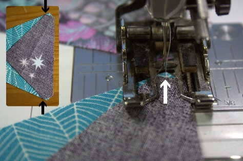 Kaleidoscope Lining up notches from sizzix