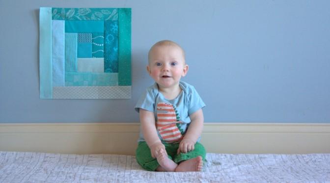 finn 6 month milestone quilt