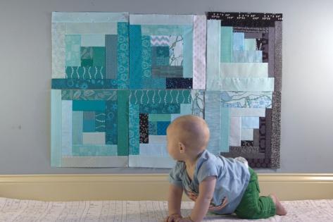 finn 6 months milestone quilt
