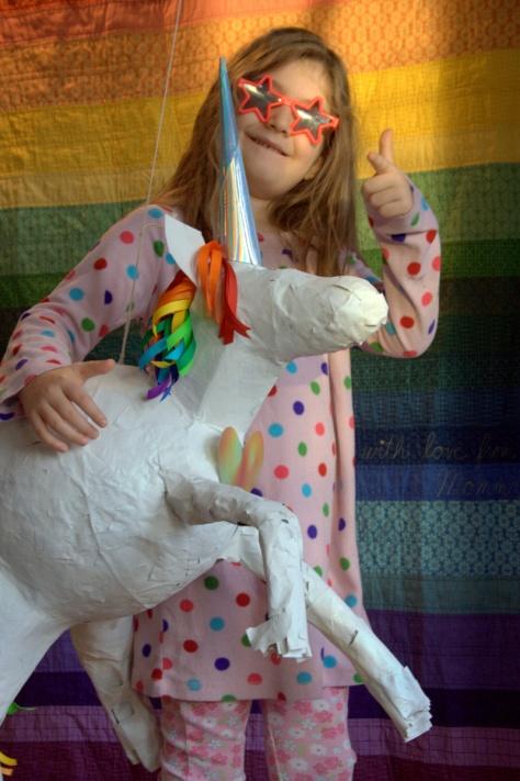 rainbow unicorn pinata