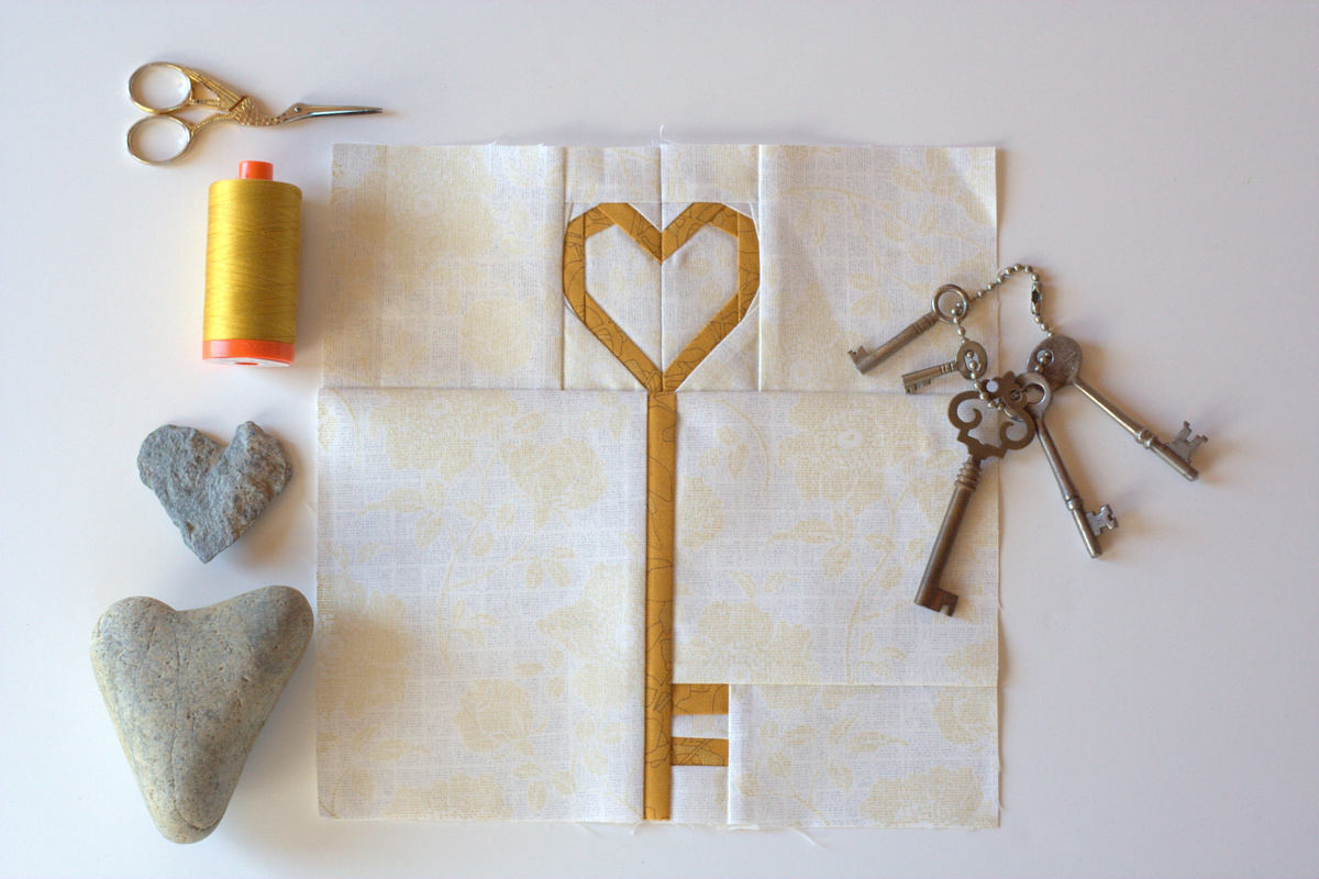 love is the key foundation paper pieced pattern