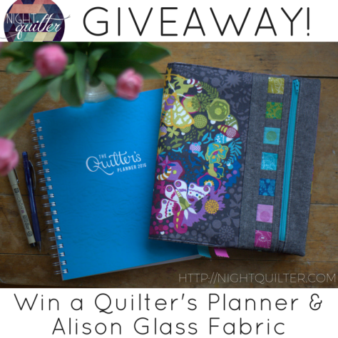 Giveaway Quilter's Planner and Fabric BLOG