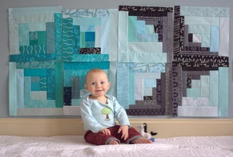 finn 8 month milestone quilt