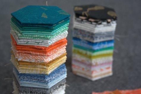 hexagons carolyn friedlander fabric