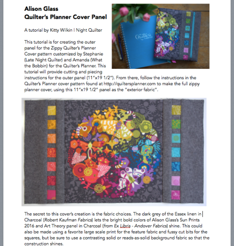 quilters planner cover tutorial