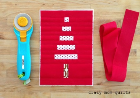 crazy mom quilts binding tiny things mini tree and binding strip