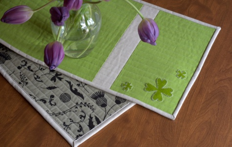 sizzix st patricks day reversible table runner tutorial