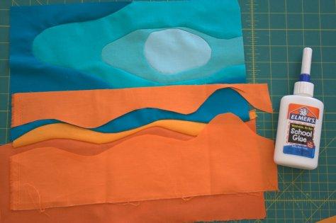 improv curve glue basting process