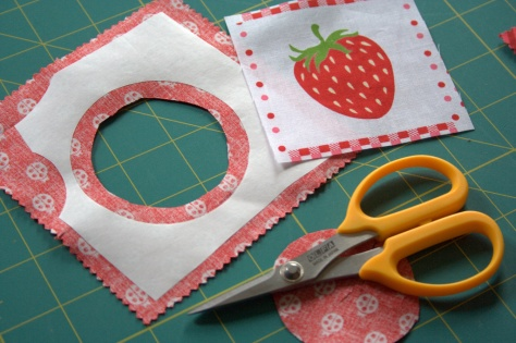 inset circles with sizzix and freezer paper eye spy