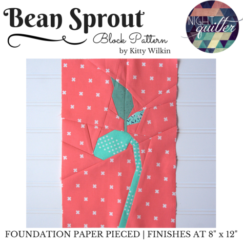 bean sprout foundation paper pieced pattern nightquilter