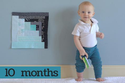 Finn 10 months milestone quilt