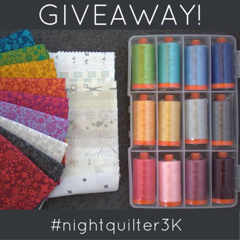 Giveaway nightquilter 3K IG