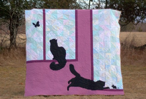 j quilt kittens at play finish