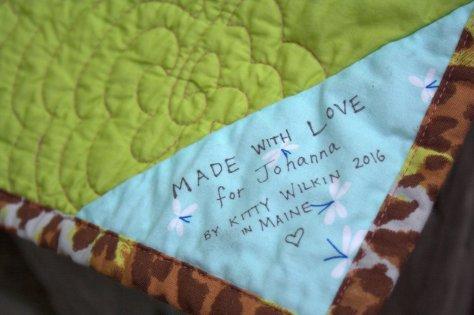 always sign a quilt label