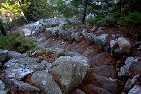 stone stairs on mountain