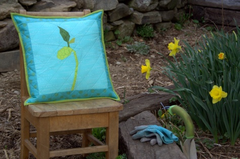grow bean sprout pillow finish