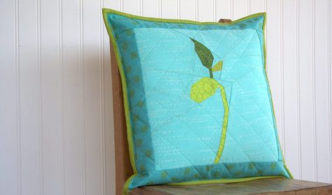 grow bean sprout pillow finish