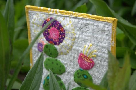 slow growth mini mini quilt finish