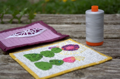 mini mini quilts with aurifil for scale