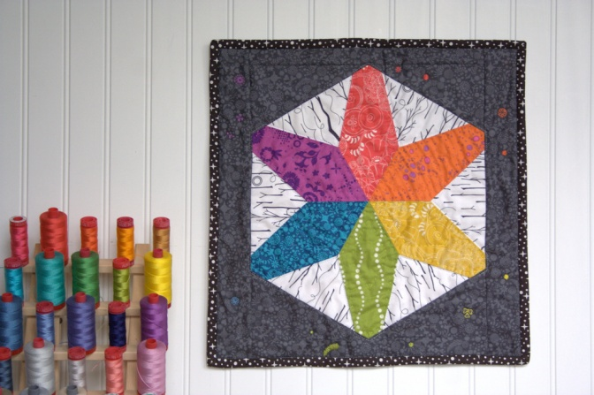 hex star mini quilt sizzix inspired aurifil