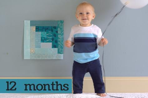 Finn 12 months milestone quilt